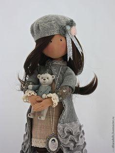 Коллекционные куклы ручной работы. Ярмарка Мастеров - ручная работа текстильная кукла  EMILY. Handmade.