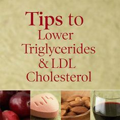 How to Lower Triglycerides & LDL Cholesterol : Many of the same lifestyle changes and medications can lower both triglycerides and LDL (bad) cholesterol and reduce your risk of a heart event or heart disease. What Causes High Cholesterol, Cholesterol Lowering Foods, Cholesterol Levels, Cholesterol Symptoms, How To Lower Cholesterol, Supplements To Lower Cholesterol, Lowering Ldl, Natural Remedies, Health Tips