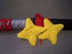 Two Crocheted Ninja Stars (Great boy gift idea & stash buster! Also works great with plarn!)