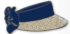 The Kate Lord Toyo Ladies Golf Straw Visor with Navy Sash and Bow will give you sun protection on and off the golf course. Lovely golf accessory too while you play! #lorisgolfshoppe