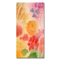 Trademark Fine Art Sheila Golden 'Woodflowers II' Canvas Art