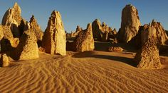 unique blend of stone and sand desert -  The Pinnacles, Nambung National Park, WA. © Tourism Western Australia