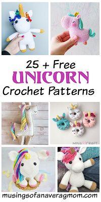 Crochet Unicorn Pattern Free, Crochet Amigurumi Free Patterns, Crochet Doll Pattern, Free Crochet, Crochet Pony, Pixel Crochet, Crochet Projects, Sewing Projects, My Little Pony Unicorn