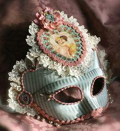 Marie-Antoinette & Boudoir - Mango and Salt Marie Antoinette, Costume Venitien, Venetian Masks, Venetian Masquerade, Carnival Masks, Beautiful Mask, Beautiful Things, Vampire Academy, Mask Party