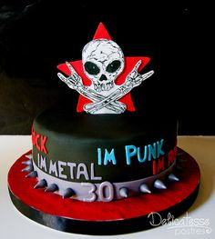 Punk Metal Rock Cake by Delicatesse Postres, via Flickr