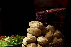 Bread and salad by i