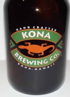 Kona Brewing Company Glass Growler 64-Oz Beer Jar Jug 1/2 Gallon Mancave Barware