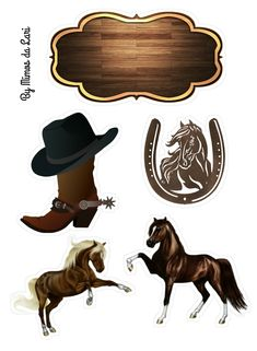 Horse Theme Birthday Party, Horse Party, Cowgirl Party, Farm Birthday, Cowboy And Cowgirl, Cowboy Crafts, Minnie Mouse Birthday Decorations, Western Show Clothes, Intarsia Wood