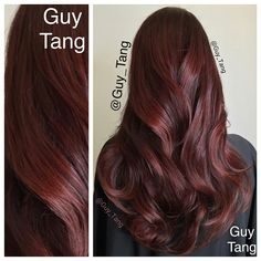 I gloss over a 2 months old #balayage with #kenra demi 6rc and I love it's richness. Easy breezy ! So glad so many people are doing warm tones and reds again. Love my client Melinda. Everyone should do red. Lol