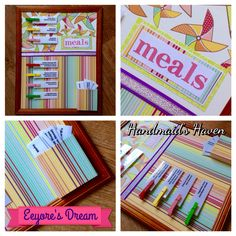 'Eeyore's Dream' Meal Planner. $50 + postage or local pick up Springfield Lakes. Visit my FB page 'Handmaid's Haven' for more info or to place an order.