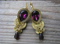 Ridgways / Gold/Violet...soutache