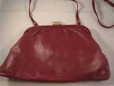 Vintage Early 1950s Maroon Leather Purse by Peruzzi Made in Italy on Etsy, $10.00