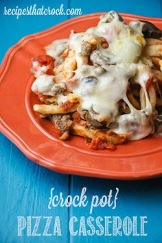 Crock Pot Pizza Casserole - Recipes That Crock! via @Recipes that Crock!