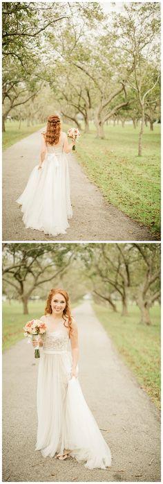 Bride in @willowbywatters Penelope wedding dress