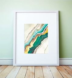 Agate Abstract Watercolor: Art Print by versoPRINTS on Etsy https://www.etsy.com/listing/222279164/agate-abstract-watercolor-art-print