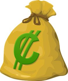 This nicely done money bag clip art is perfect for use on your money or finance related projects.