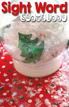 This sight word snow globe would be the perfect addition to word work during Christmas or even winter. I can't wait to make one!