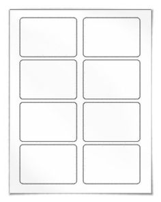 "Blank Name Badge Labels and Template.  download: Our WL-250 template in Word .doc, PDF and other formats. View here: http://www.worldlabel.com/Pages/wl-ol5030.htm  Size: 3.375"" x 2.3125""    Labels per sheet: 8 