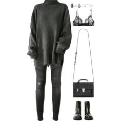 Untitled #948 by romane-inspiration on Polyvore featuring polyvore, fashion, style, Hudson, Kiki de Montparnasse, Acne Studios, Yves Saint Laurent, Topshop, Humble Chic and clothing