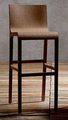 Love the colour. Kitchen Chairs, Bar Chairs, Bar Stools, High Chairs, Contemporary Bar, Chair Bench, Cabin Homes, Plywood Furniture, Island Bar