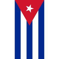 Beach Towel 30X60 Cuba Flag Pride