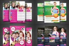 Ad: School Education Flyer Bundle by AfzaalGraphics on School Flyer Bundle - 12 Flyer Fully layered PSD 300 Dpi, CMYK or later Completely editable, print ready Text/Font or Color can be creativemarket 817614507336714037 Summer Camps For Kids, Summer Activities For Kids, Summer Kids, Education Galaxy, Kids Education, Kindergarten Activities, Educational Activities, Fitness Flyer, School Admissions