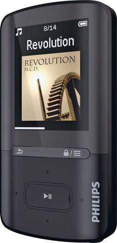 Philips New Black MP4 Player Music GoGear Vibe Colour Display 8 GB SA4VBE08KN/12