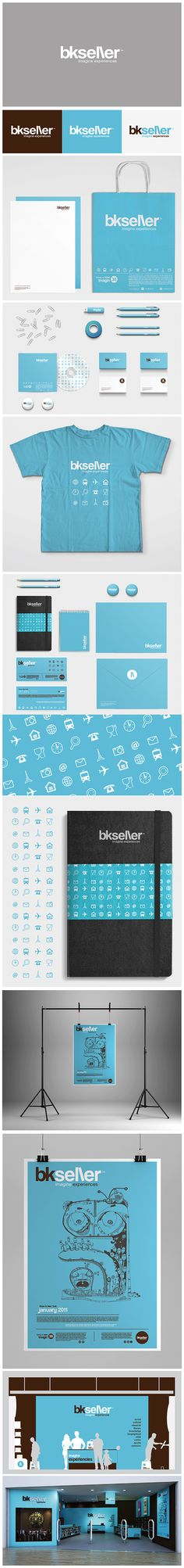 Simple Branding___bkseller by Mister Onüff by misteronüff , via Behance #identity #packaging #branding PD
