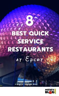 Epcot's World Showcase is home to many quick service restaurants. Here are the best 8 that you should enjoy on your next vacation! Disney World Food, Walt Disney World Vacations, Disney Worlds, Disney Parks, Disney Travel, Disney Bound, Disney Vacation Planning, Disney World Planning, Trip Planning