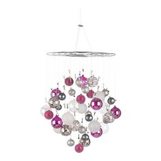 Ornament / photo holder chandelier from Crate and Barrel (no longer available online!) - could DIY something like this - wire circles, wire, alligator clips...