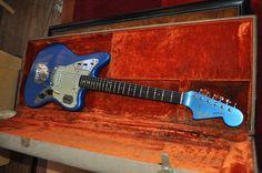 vintage Fender Jaguar, Lake Placid Blue with matching headstock...my dream guitar