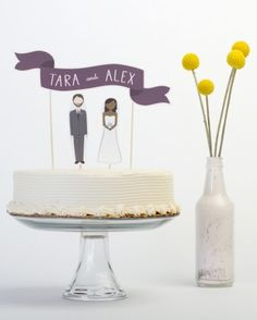 "See+the+""Art+Works""+in+our+21+Wedding+Cake+Toppers+That+Really+Do+Take+the+Cake+gallery"