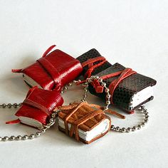 Tiny leather journal #books / hand-crafted by Junque Treasures http://ebks.to/1SD1JDy