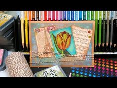 Colored Pencil Tips & Inky Backgrounds on Kraft Cardstock {Stamp School} | Thefrugalcrafter's Weblog