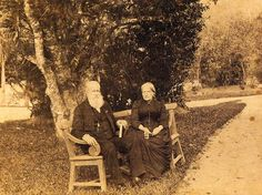 Pedro II and D. Teresa, Emperor and Empress of Brazil, at the garden of the Imperial Palace in Petropolis which was the Summer residence of the Imperial Family. Before 1891 Portuguese Royal Family, South Of The Border, Imperial Palace, Ferrat, Old Soul, Gone With The Wind, Past Life, Some Pictures, Historical Photos