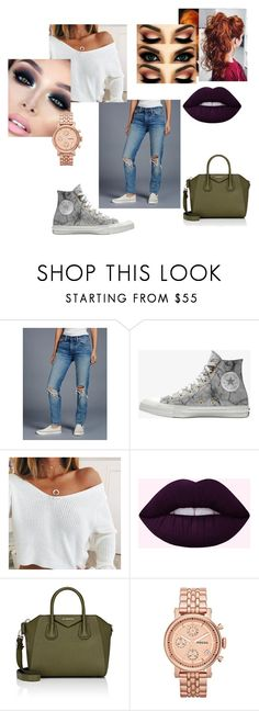 """""""Untitled #501"""" by iamkenzie ❤ liked on Polyvore featuring Free People, Converse, Givenchy and FOSSIL"""
