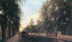 Eduard Gärtner - Berliner Straße in Charlottenburg 1869