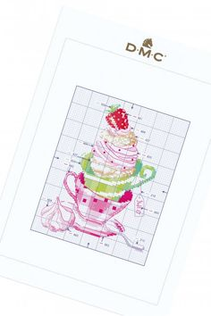Cream Puffs - pattern - Free Cross Stitch Patterns - DMC Cross Stitch Designs, Cross Stitch Patterns, New Product, Product Launch, Dmc, Embroidery Transfers, Project 4, Free Sign, Embroidery Needles