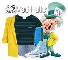 Mad Hatter~ DisneyBound by basic-disney on Polyvore featuring River Island, J Brand, Converse and Disney
