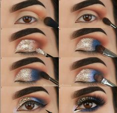60 Stunning Eyeshadow Tutorial For Beginners Step By Step Id.- 60 Stunning Eyeshadow Tutorial For Beginners Step By Step Ideas Page 36 of 69 60 Stunning Eyeshadow Tutorial For Beginners Step By Step Ideas Page 36 of 69 - Prom Eye Makeup, Gold Eye Makeup, Makeup Eye Looks, Eye Makeup Steps, Smokey Eye Makeup, Makeup Eyeshadow, Makeup Brushes, Eyeshadow Ideas, Eyeshadow Makeup Tutorial