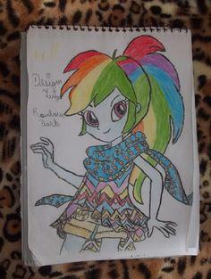 Rainbow Dash my little pony equestria girls desenho à lápis