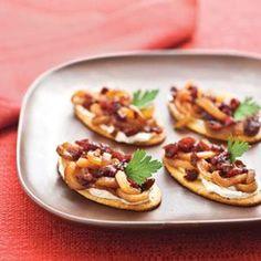 Caramelized Onion-Cranberry-Cream Cheese Bites | MyRecipes.com