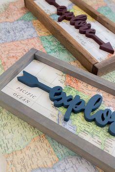 explore   travel   handmade wood signs   rustic   farmhouse   home decor