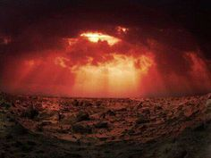 Sunset on Mars.