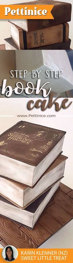by step tutorial for making a book cake or stacked book cake. Step by step tutorial for making a book cake or stacked book cake.,Step by step tutorial for making a book cake or stacked book cake. Cake Decorating Techniques, Cake Decorating Tutorials, Cookie Decorating, Decorating Ideas, Decorating Cakes, Bolo Fashionista, Fondant Cakes, Cupcake Cakes, 3d Cakes
