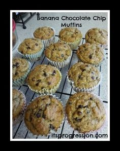 Healthy Banana Chocolate Chip Muffins Recipe - itsprogression.com