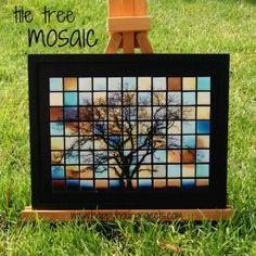 cricut to cut. backsplash for camper. diy-tree-mosaic