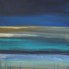 Ocean Blue 2 by Linda Woods - Ocean Blue 2 Painting - Ocean Blue 2 Fine Art Prints and Posters for Sale