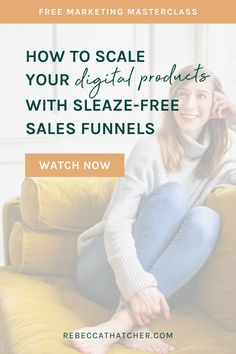 """Ready to start selling your digital products and courses daily, within spending more time working, launching or selling? This is one of the most frequent questions I hear from coaches and entrepreneurs! Which is why I created my FREE Masterclass, """"How to Sell Digital Products And Courses With a Feel-Good Funnel""""—AKA, your guide for generating passive income and finally understanding how to make funnels work for you. Sign up for instant access #BusinessTips #SalesFunnels #MarketingTips Digital Marketing Trends, Email Marketing Design, Facebook Marketing, Social Media Marketing, Instagram Advertising, Marketing Professional, Instant Access, Copywriting, Coaches"""