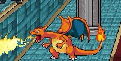 Super smash flash 2's charizard. It follows opponents and breathes fire on them when summoned